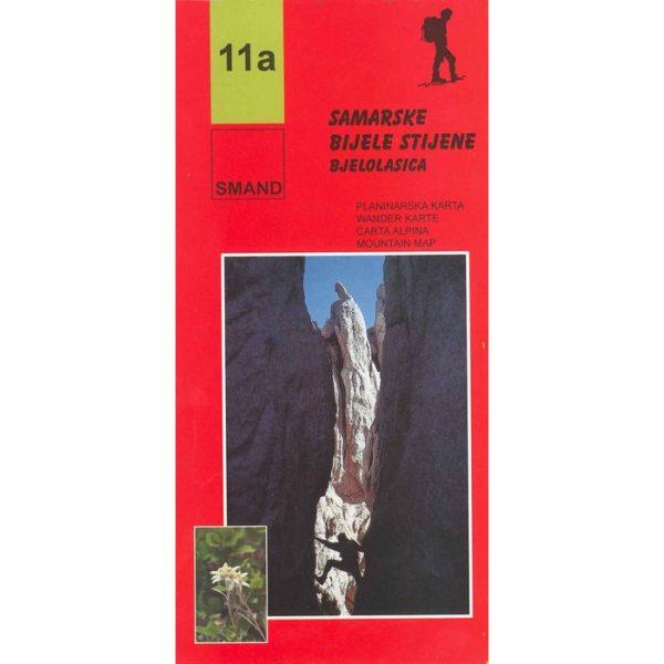 Planinarska karta - Bijele i Samarske stijene, Bjelolasica