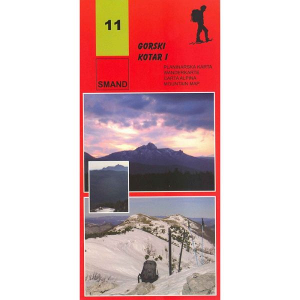 SMAND, planinarska karta Gorski kotar I