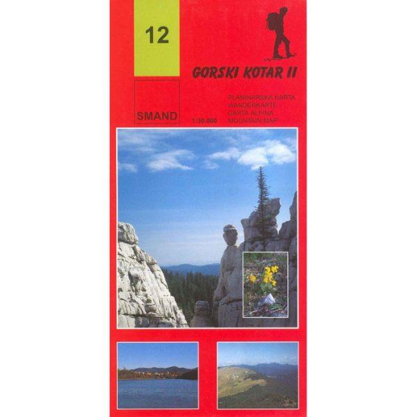 SMAND, Gorski Kotar II, planinarska karta