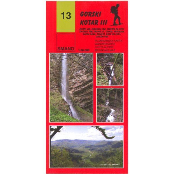 Gorski Kotar III, SMAND - planinarska karta