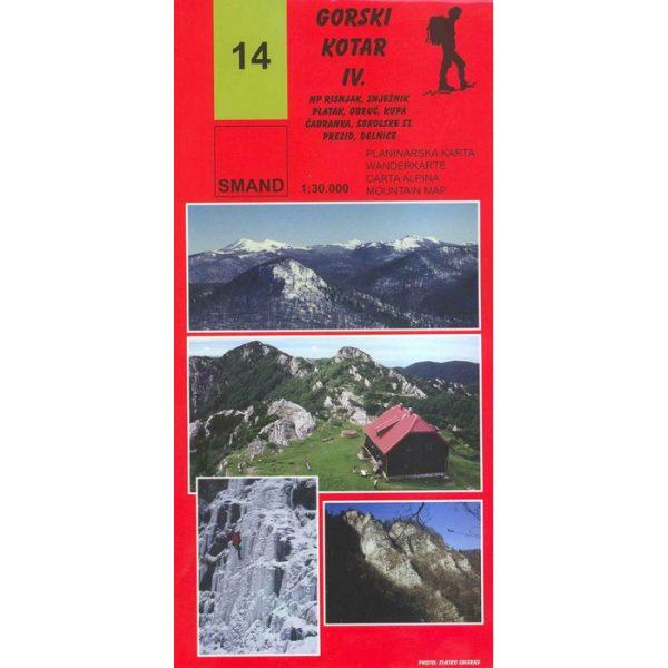 SMAND, planinarski zemljovid - Gorski Kotar IV