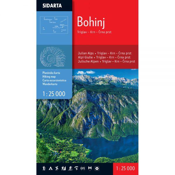 Bohinj - Planinarska karta