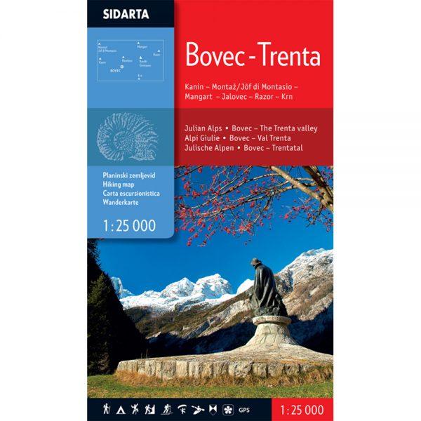 Bovec Trenta - planinarska karta