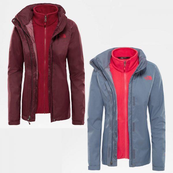 Ženska jakna za planinarenje - EVOLVE II TRICLIMATE