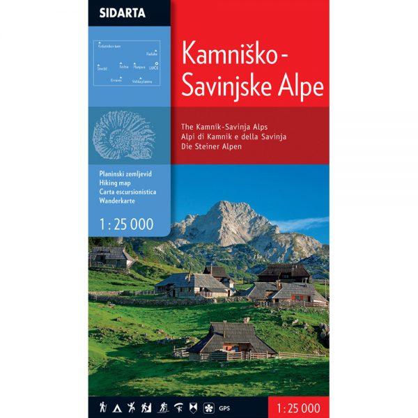 Kaminsko savinjske ALPE - zemljovid, planinarska karta