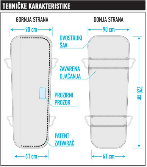 PVC vreća za transport