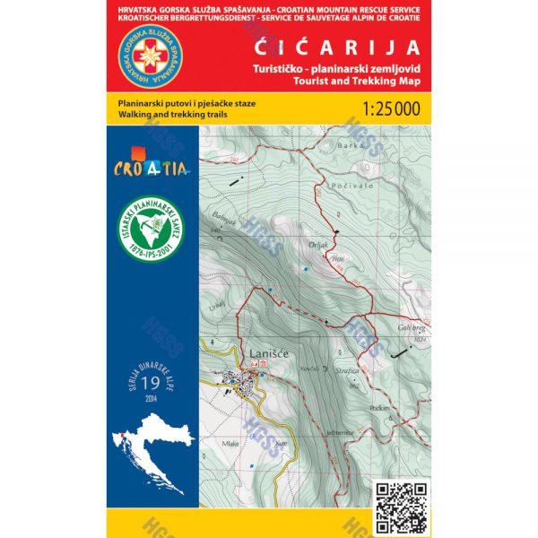 HGSS planinarska karta - zemljovid - Čićarija