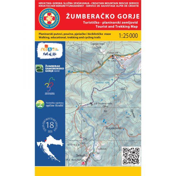 HGSS planinarska karta - zemljovid - Žumberačko gorje