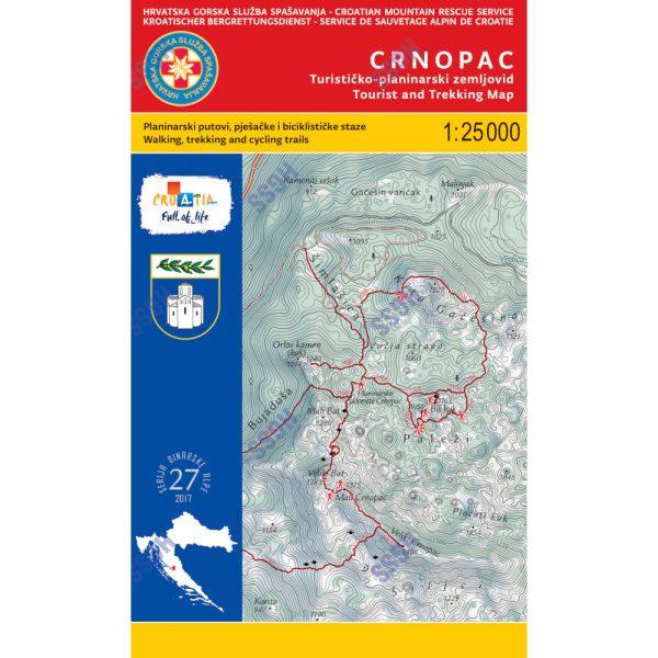 HGSS planinarska karta - zemljovid - CRNOPAC