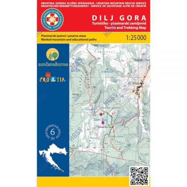 HGSS planinarska karta - zemljovid - Dilj Gora