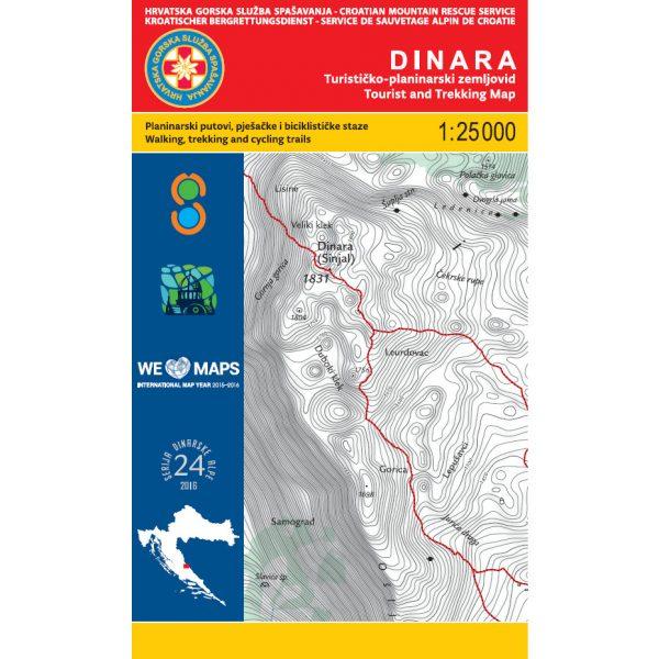 HGSS planinarska karta - zemljovid - DINARA