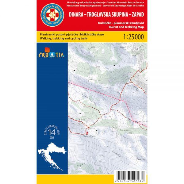 HGSS planinarska karta - zemljovid - DINARA ZAPAD