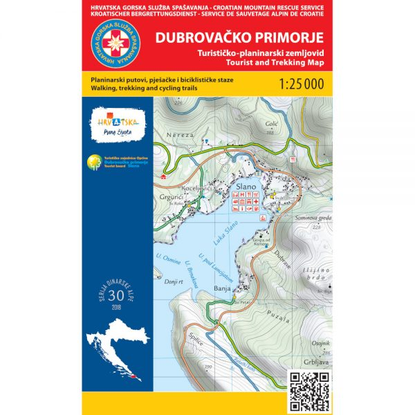 HGSS planinarska karta - zemljovid - Dubrovačko primorje