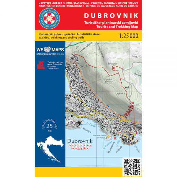 HGSS planinarska karta - zemljovid - Dubrovnik