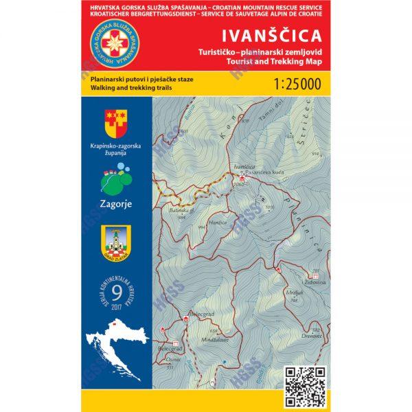 HGSS planinarska karta - zemljovid - Ivanščica