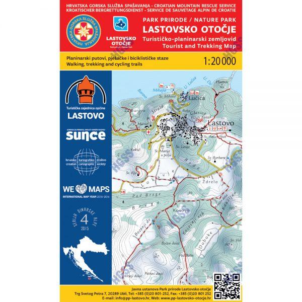 HGSS planinarska karta - zemljovid - Lastovsko otočje