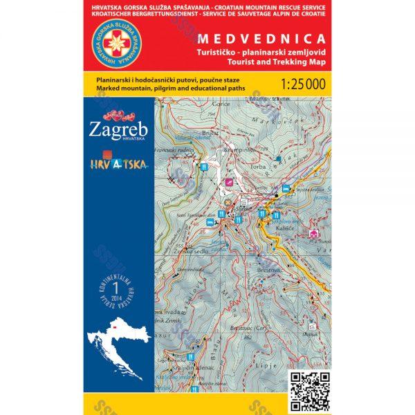 HGSS planinarska karta - zemljovid - Medvednica