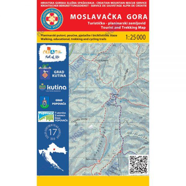 HGSS planinarska karta - zemljovid - Moslavačka gora