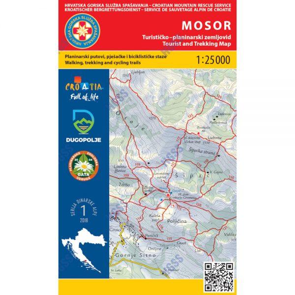 HGSS planinarska karta - zemljovid - Mosor