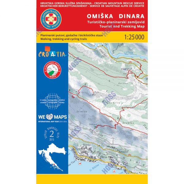 HGSS planinarska karta - zemljovid - Omiška Dinara