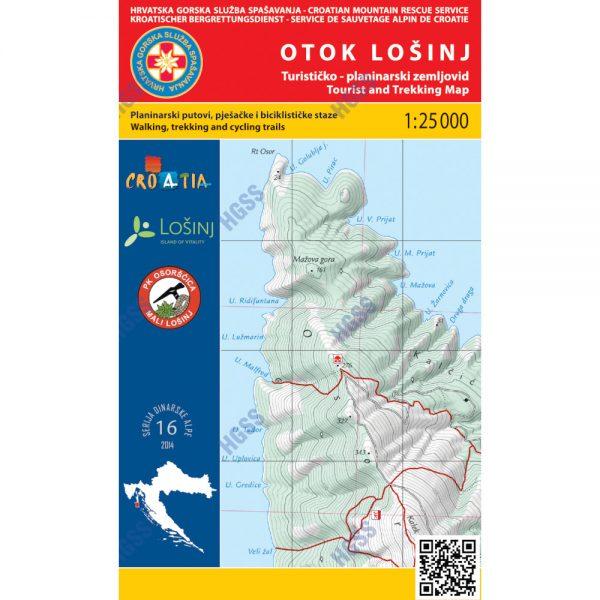 HGSS planinarska karta - zemljovid - Otok Lošinj