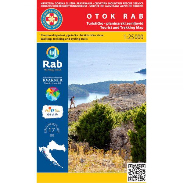 HGSS planinarska karta - zemljovid - Otok Rab