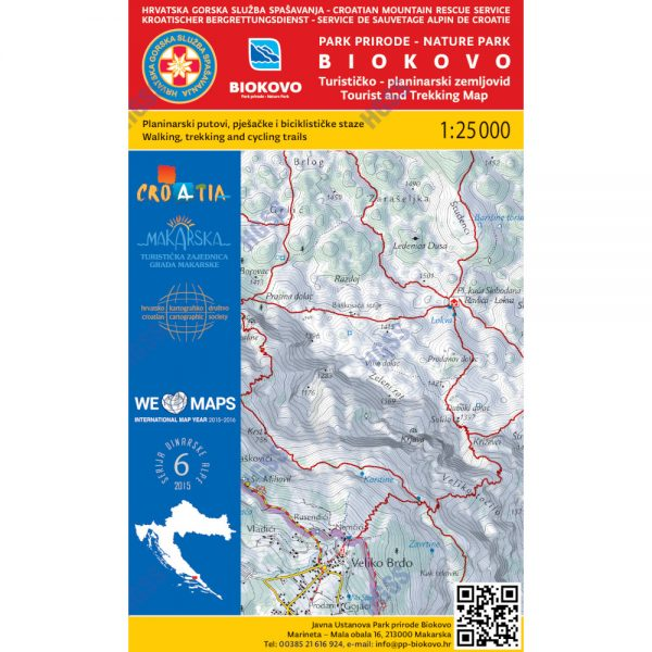 HGSS planinarska karta - zemljovid - PP Biokovo