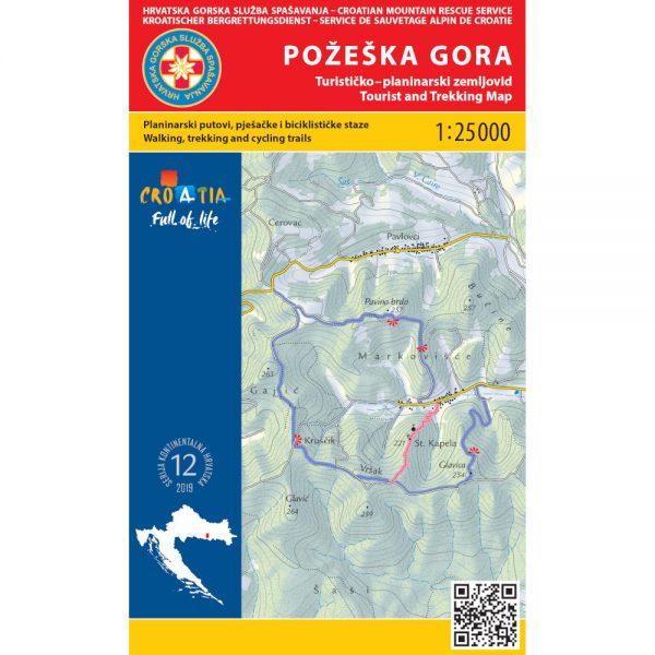 HGSS planinarska karta - zemljovid - Požeška gora
