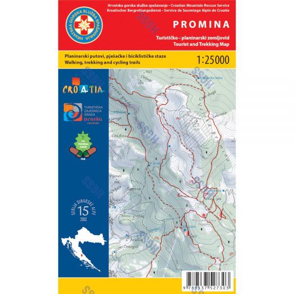 HGSS planinarska karta - zemljovid - Promina