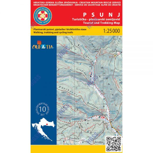 HGSS planinarska karta - zemljovid - Psunj