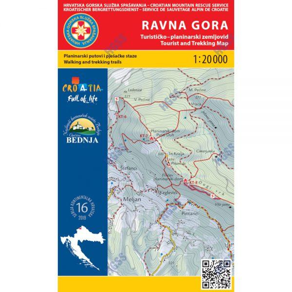 HGSS planinarska karta - zemljovid - Ravna gora