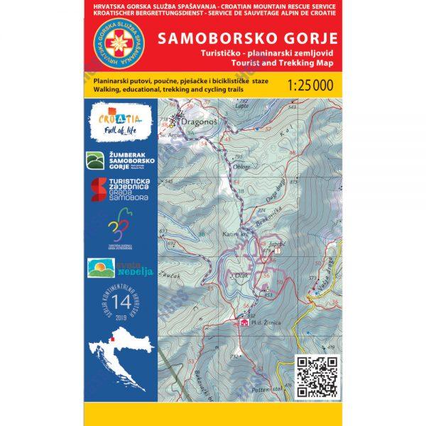 HGSS planinarska karta - zemljovid - Samoborsko gorje