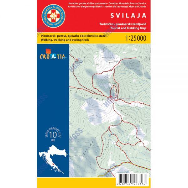 HGSS planinarska karta - zemljovid - Svilaja