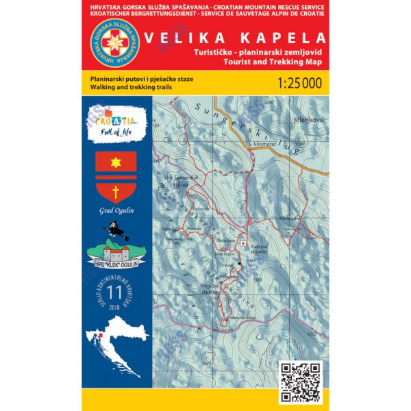 HGSS planinarska karta - zemljovid - Velika Kapela