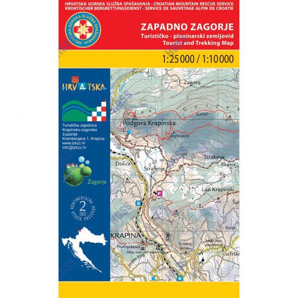 HGSS planinarska karta - zemljovid - Zapadno zagorje