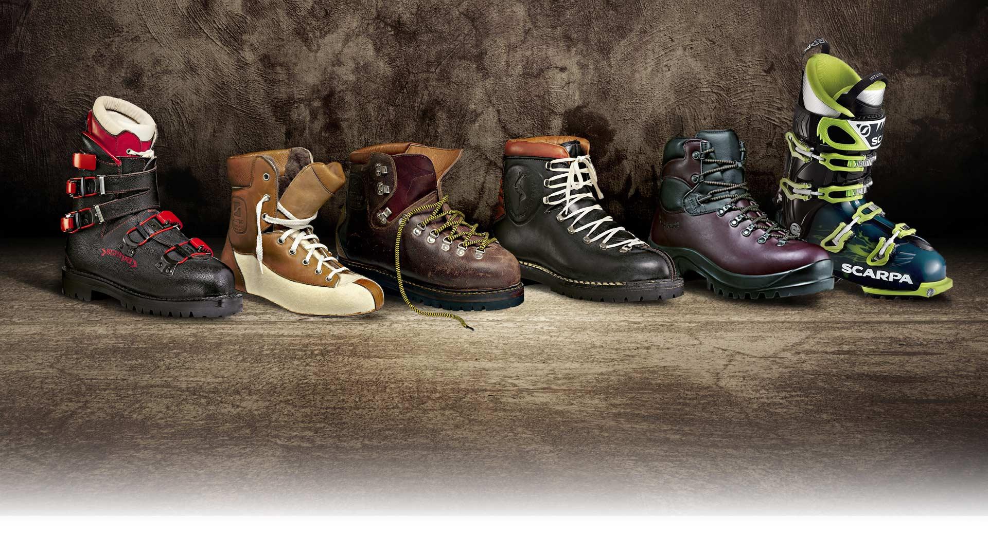 SCARPA povijest - planinarska obuća
